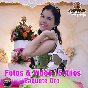 FOTOS Y VIDEO 15 AÑOS PAQUETE ORO