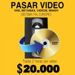 copiado a dvd cali, vhs, betamax, video8, minidv